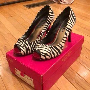 Candie's zebra print heels